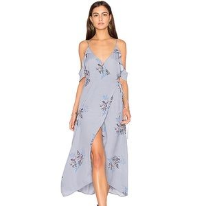 ASTR the Label Gwyn Midi Dress Periwinkle Floral